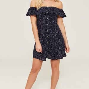 2/$20 Ardene off the shoulder polka dot dress